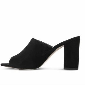 f332de04673a3 Sam Edelman Shoes - Sam Edelman Orlie Open-Toe Block-Heel Mules Size 9
